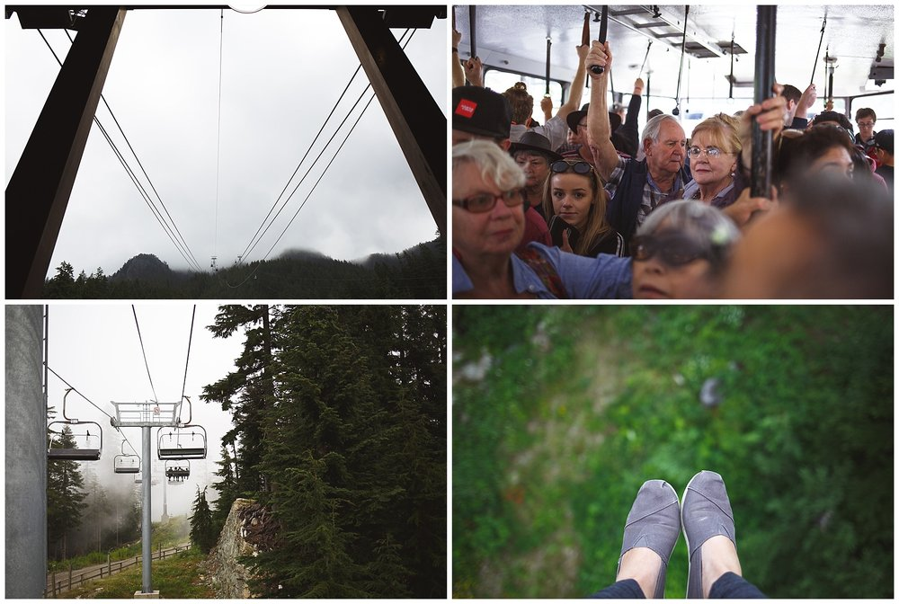 Rode to the top of the Vancouver rainforest on a ski lift