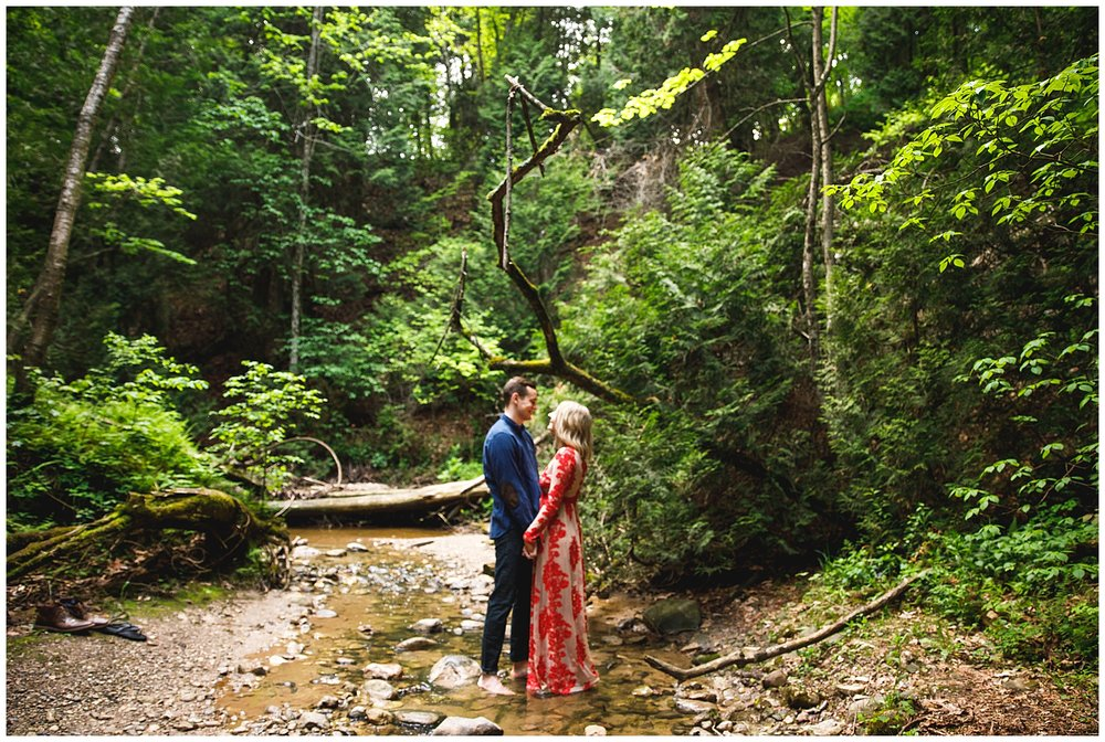 Romantic + Whimsical woodland engagement session - Chelsea Matson Photography