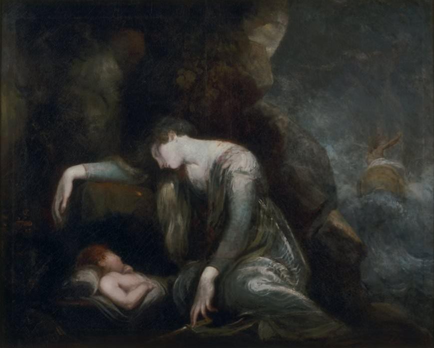 Danaë and perseus asleep on seriphos - by henry fuseli