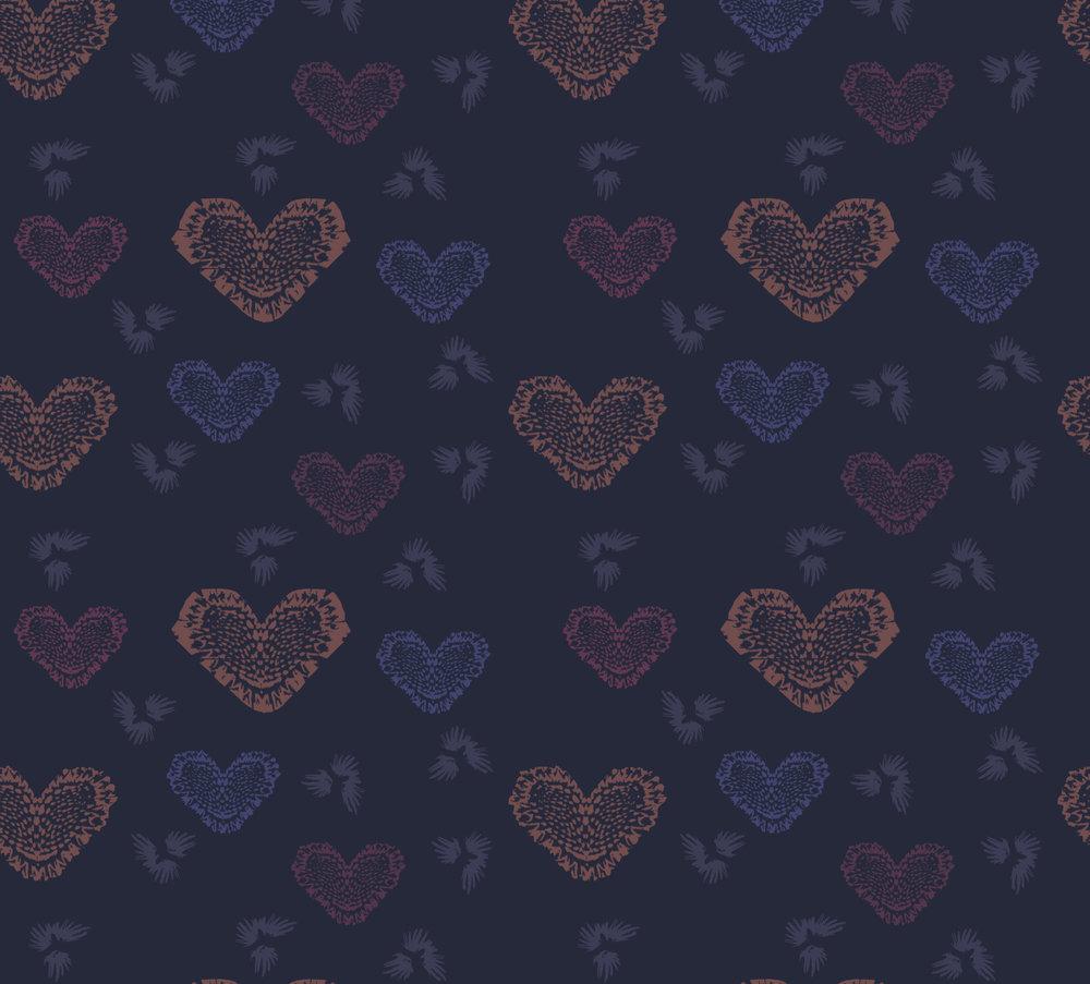 Heart Doily ~ Navy