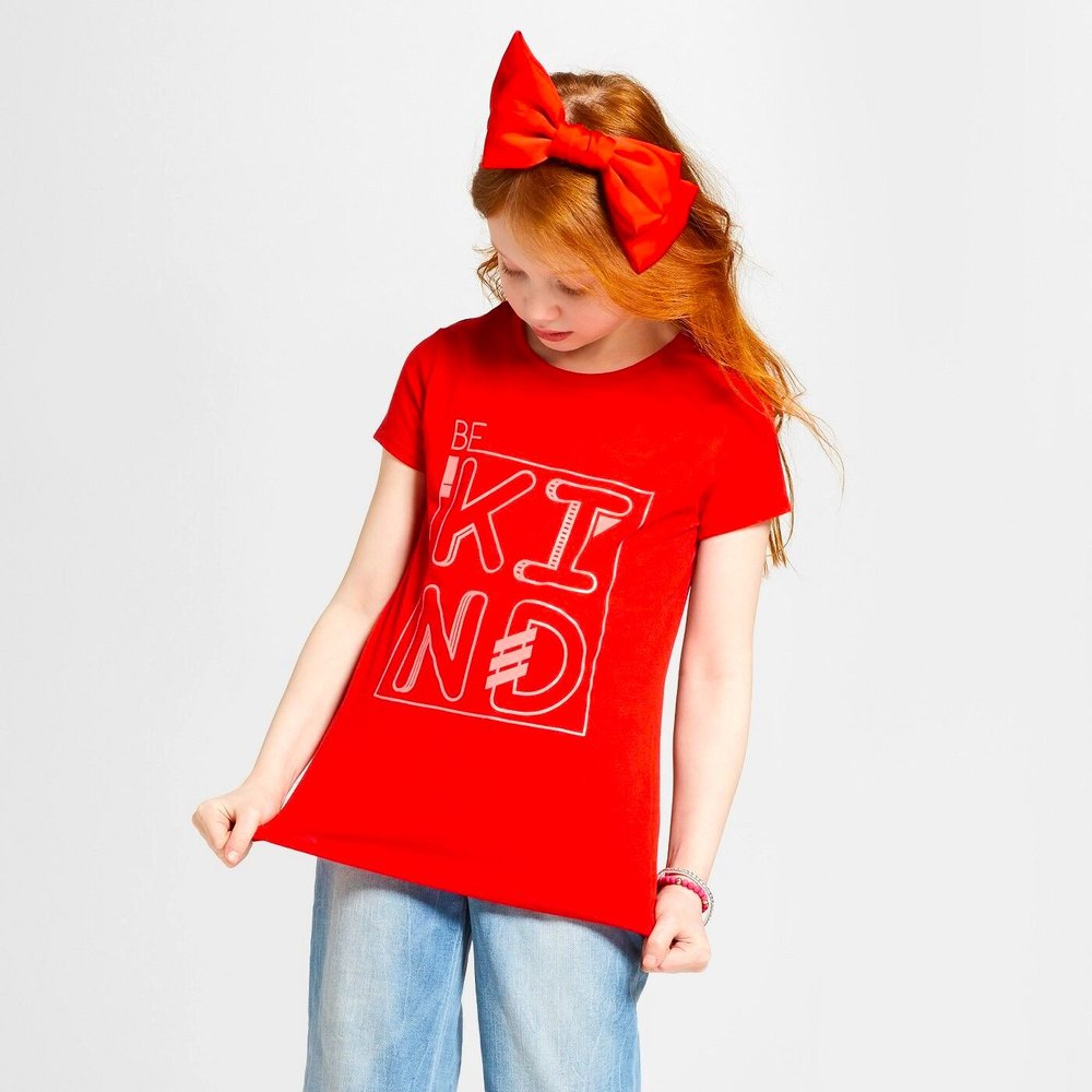CAT&JACK GIRLS GRAPHIC TEE
