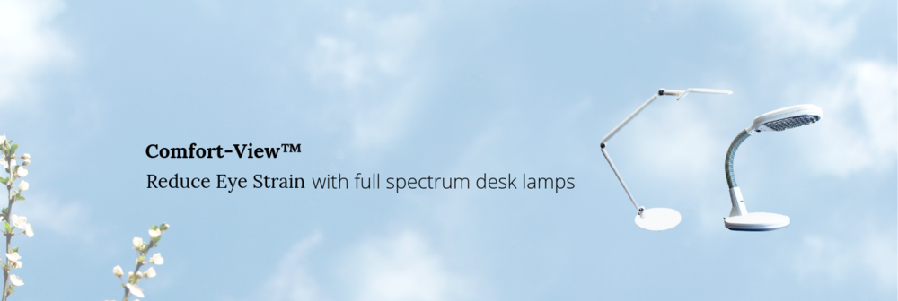 Full spectrum desk lamps