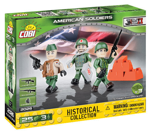COBI TOYS #2026 Small American Army Figures Building Set