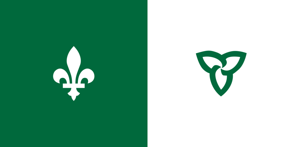 Franco-Ontarian flag (The Canadian Encyclopedia)