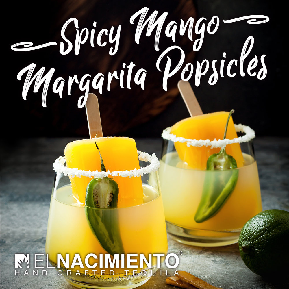 SPICY MANGO MARGARITA POPSICLES