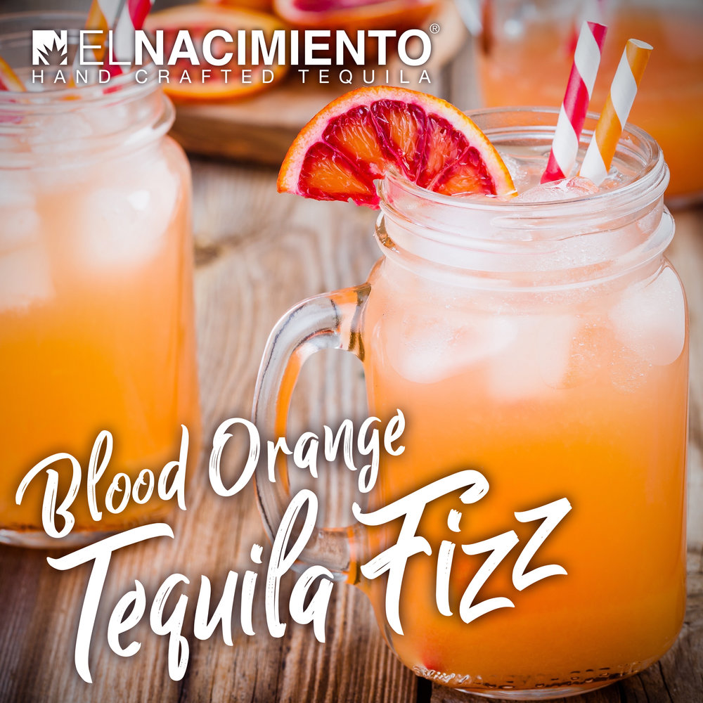 BLOOD ORANGE TEQUILA FIZZ