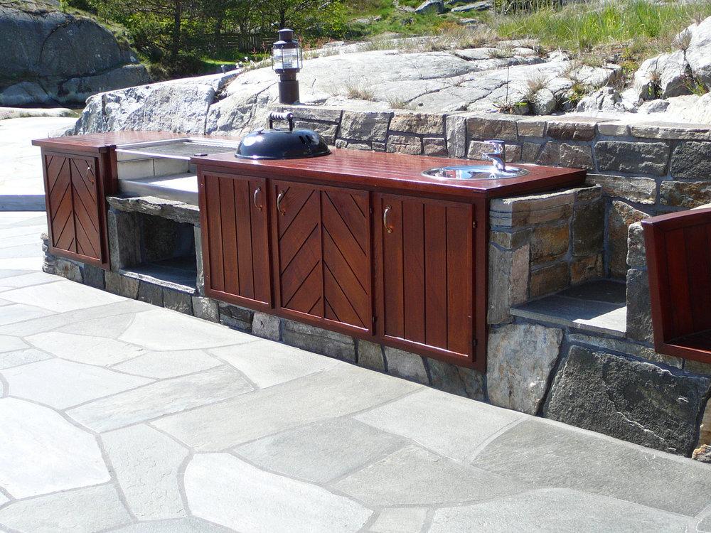 Uteplass og terrasse