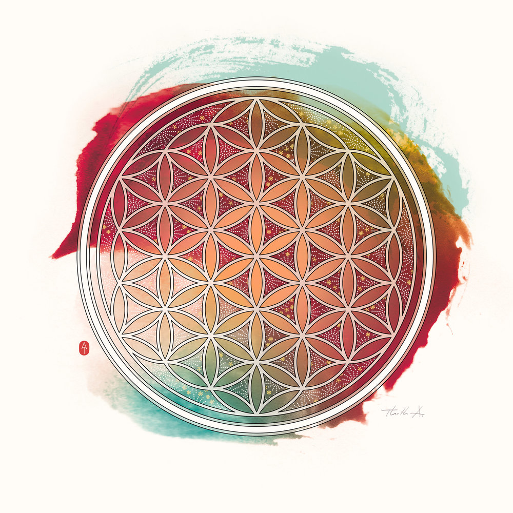 Flower Of Life , Purchase prints via  Society6