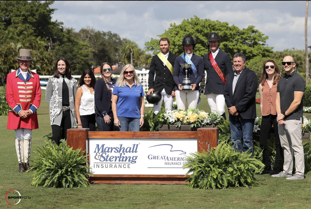 (Wellington, FL) $209,000 Marshall & Sterling Insurance/Great American CSI 4* Grand Prix. Beezie Madden and Darry Lou for the win! McLain Ward and Tradition de La Roque place second, and Kent Farrington and Gazelle take third. Sportfot Photo