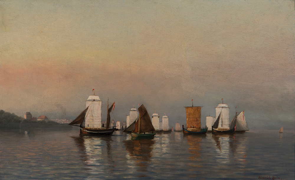 "Eimerich Rein  Am. 1827-1900  ""Ships off the Coast"""