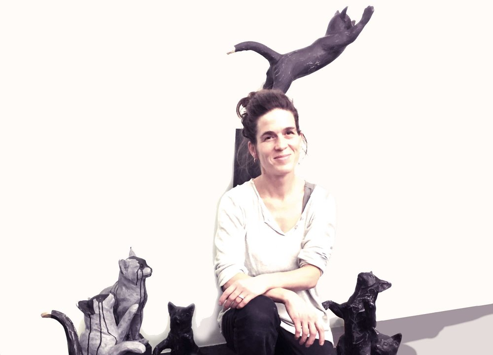 Cat Woman, Rahel Felber Dewey, Bildhauerin