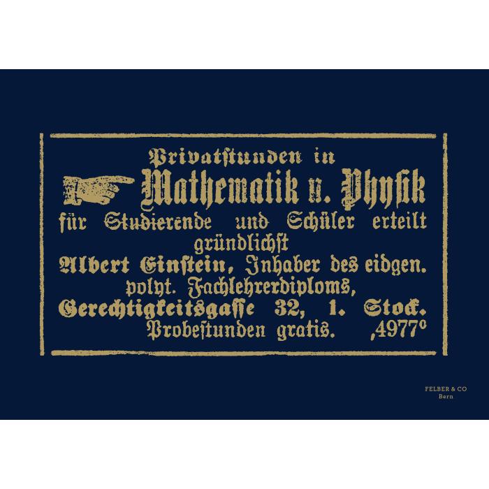 Postkarte & Poster, Original Einstein Inserat