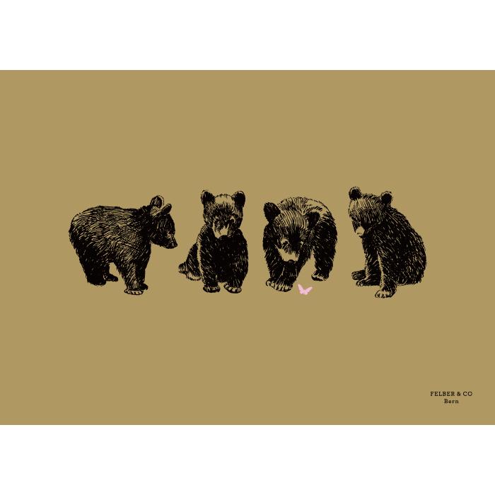 Postkarte & Poster, Die 4 Bären