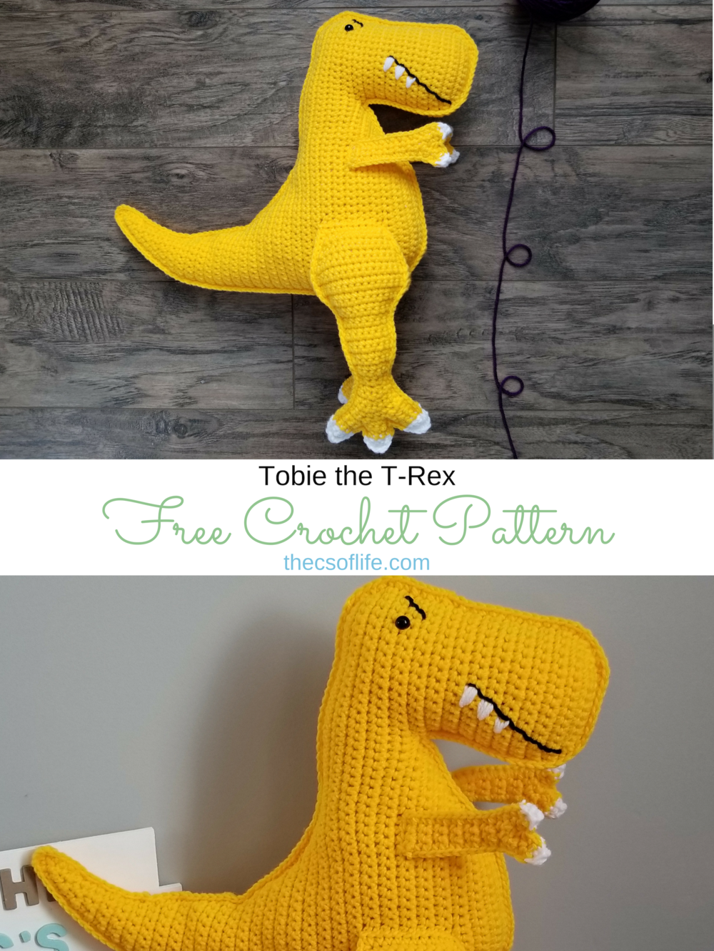 Tobie the T-Rex - Free Crochet Pattern