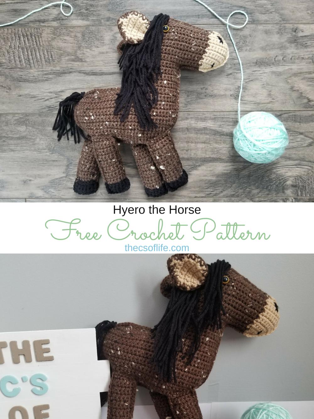 Hyero the Horse- Free Crochet Pattern