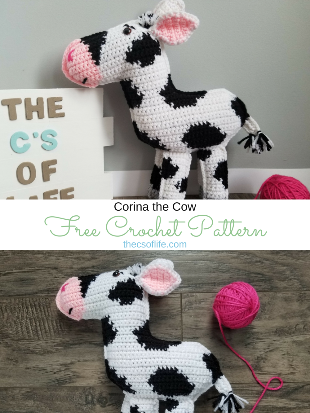 Corina the Cow - Free Crochet Pattern