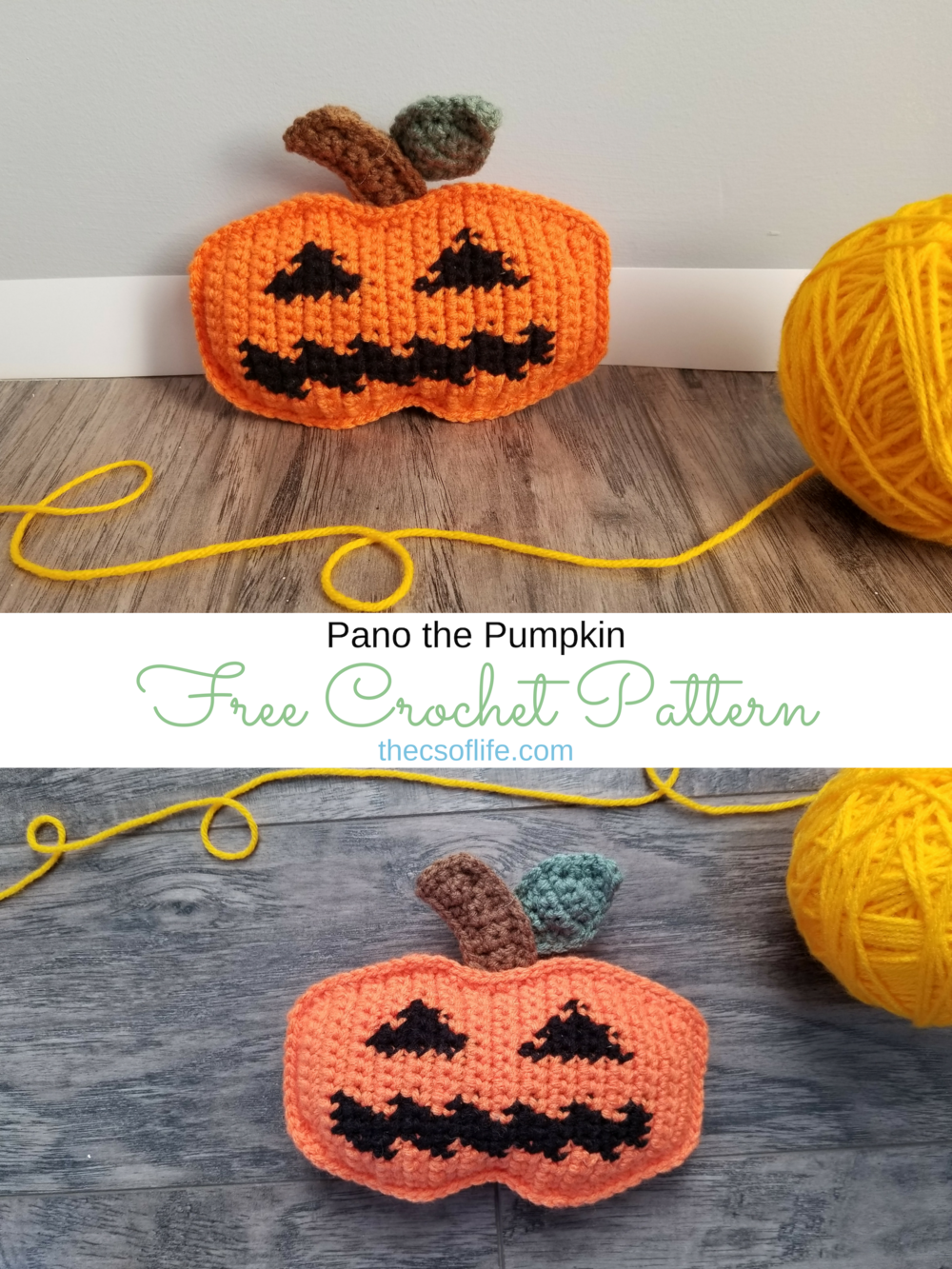 Pano the Pumpkin - Free Crochet Pattern