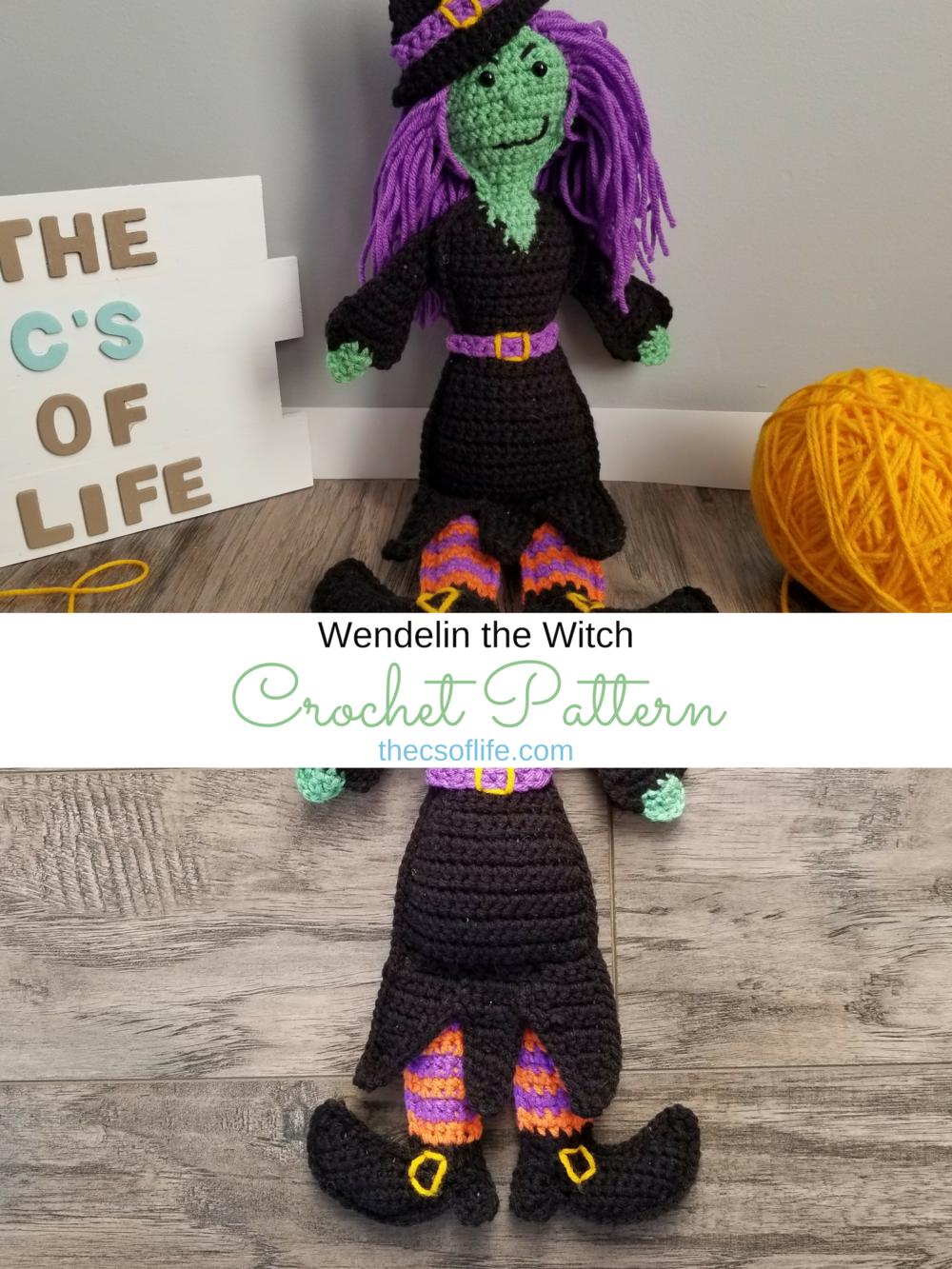 Wendelin the Witch - Crochet Pattern