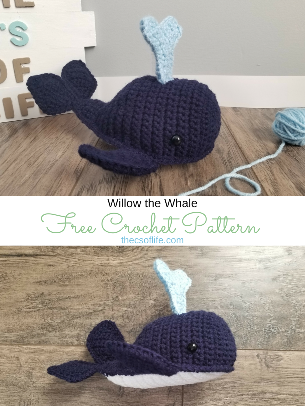 Willow the Whale - Free Crochet Pattern