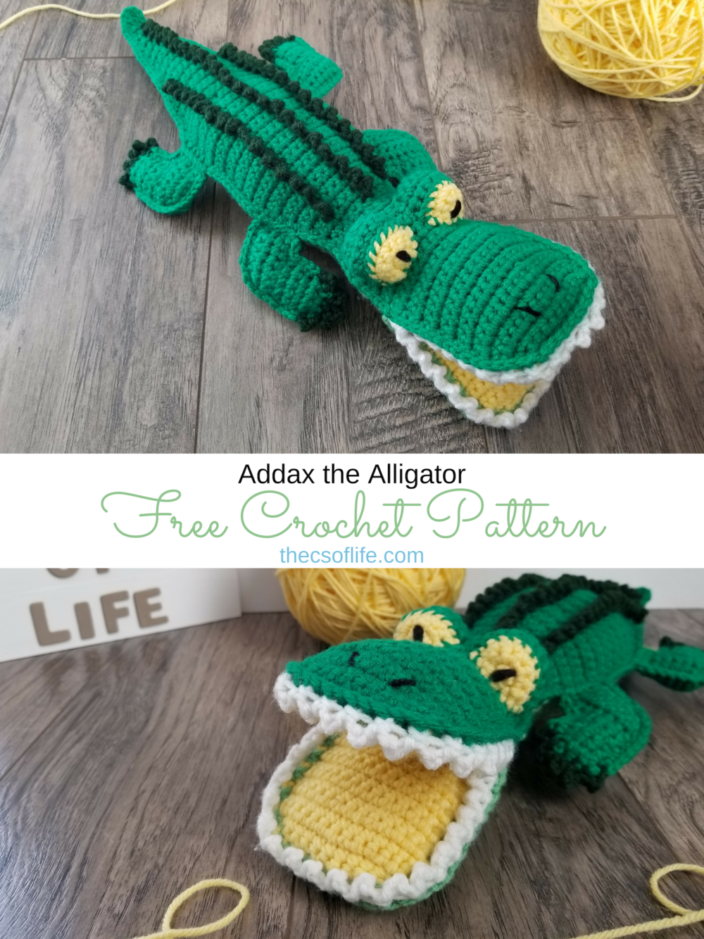 Addax the Alligator - Free Crochet Pattern