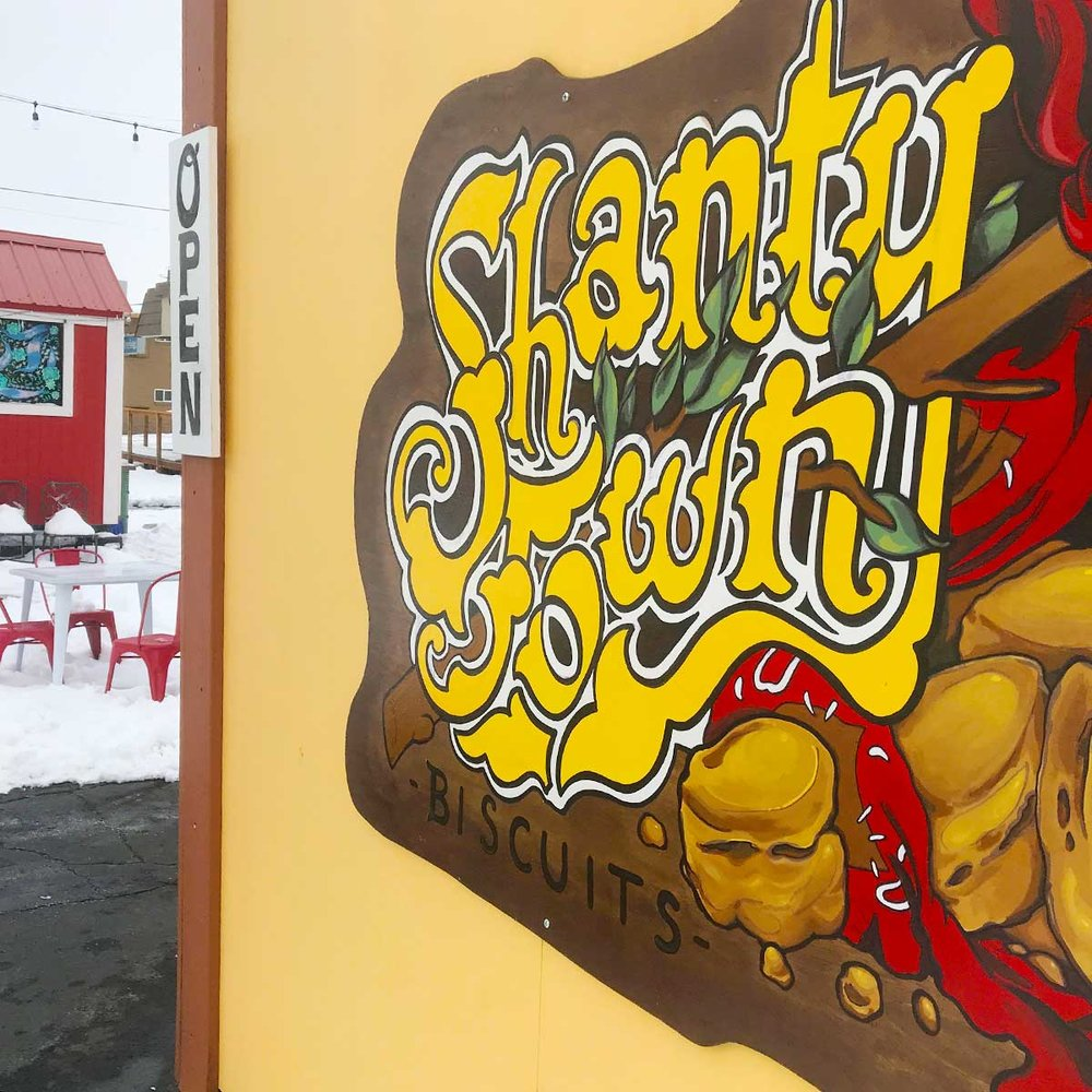 Shanty Town's sweet sign