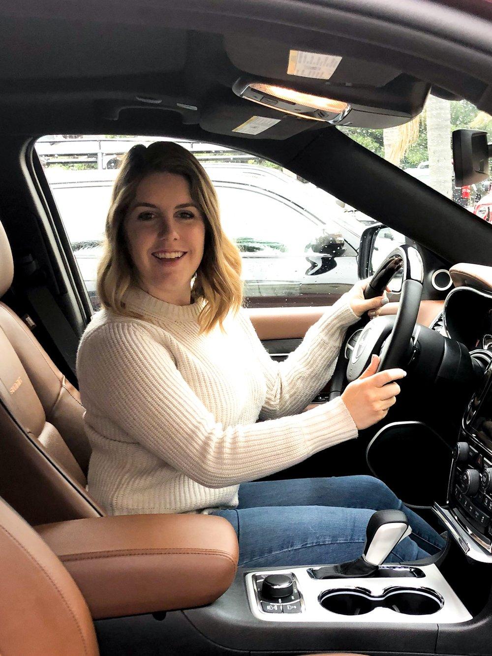 In the new car.JPG