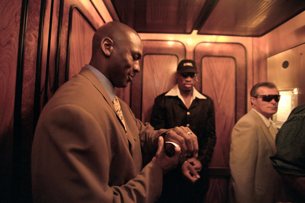 Michael Jordan & Dennis Rodman,