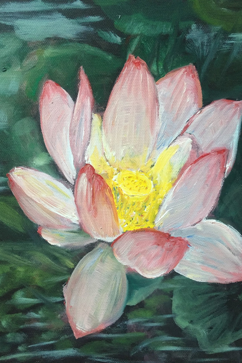 """Lotus Study"" Oil on stretched canvas, 8""x 10"" $200"