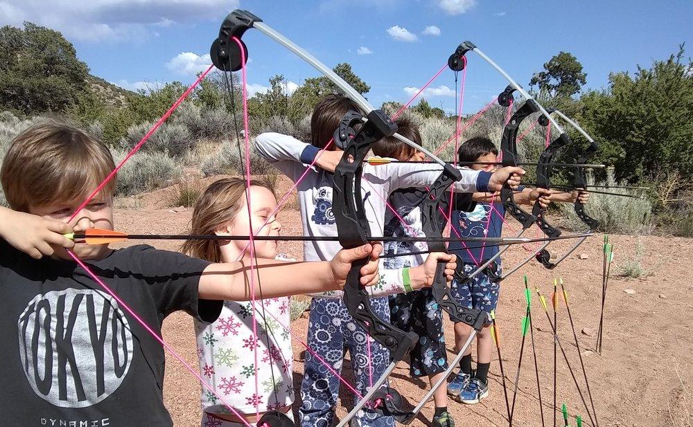 "Archery @ Make Time on ""PJs day for Eldo Community School"""