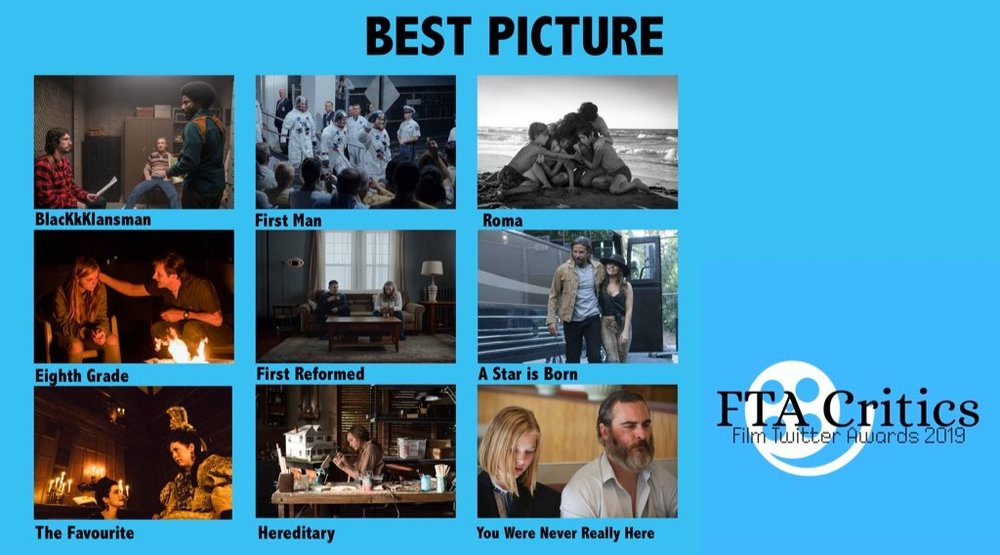FTA nominees for best picture 2019, courtesy of @FTACritics official Twitter