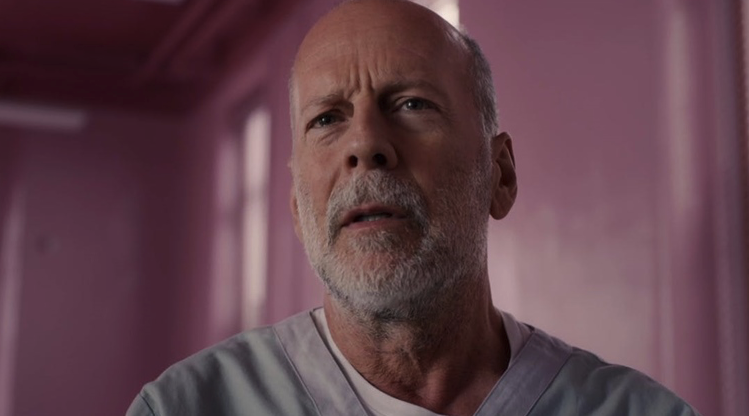 Bruce Willis in  Glass , photo by Jessica Kourkounis, courtesy of Universal Pictures