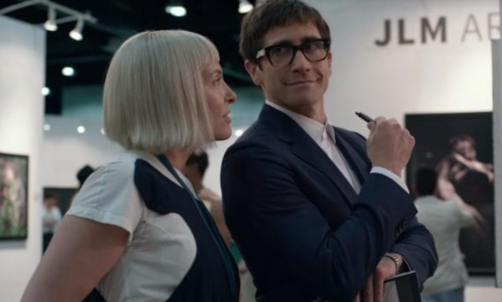 Toni Collette & Jake Gyllenhaal in  Velvet Buzzsaw , photo by Claudette Barius, courtesy of Netflix