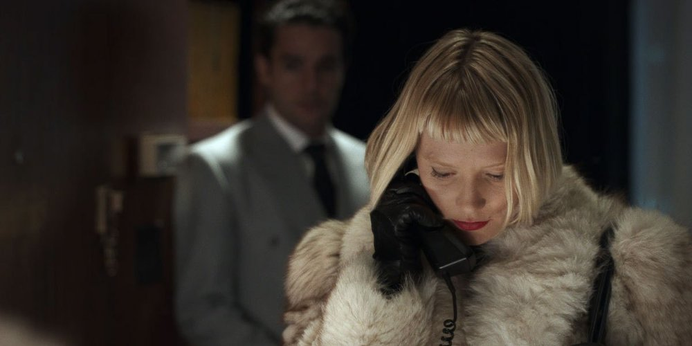 Mia Wasikowska & Christopher Abbott in  Piercing,  courtesy of Universal Pictures
