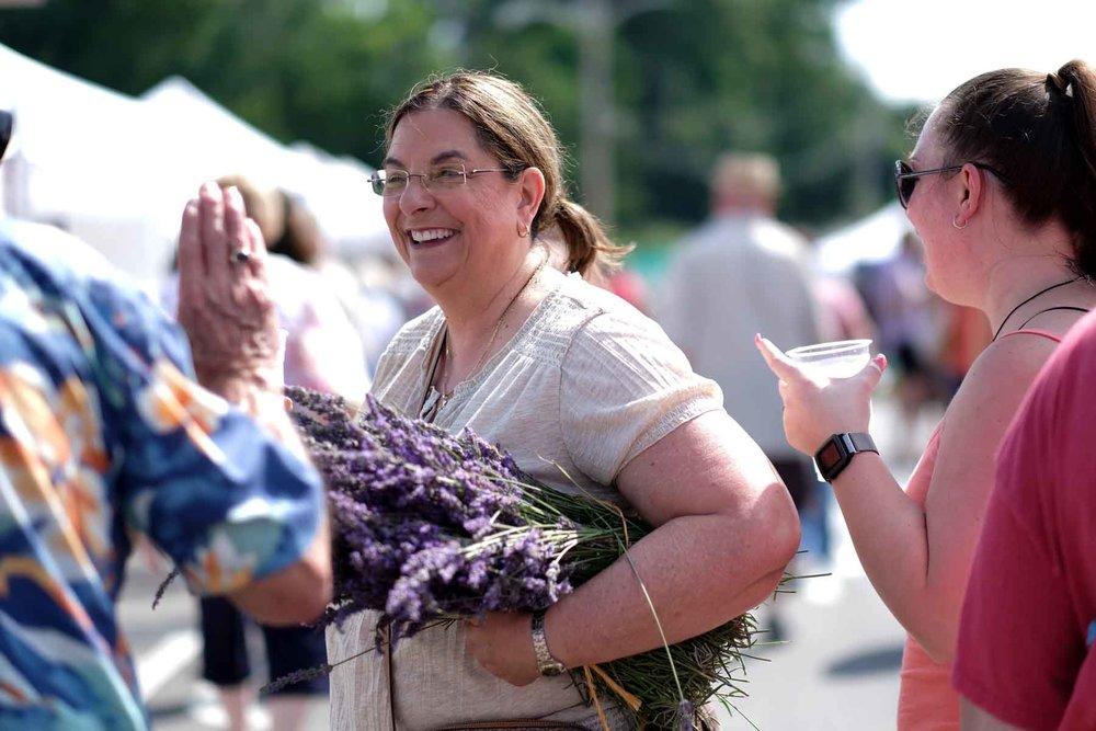 farmers' market - Visit the Oak Ridge Farmers' Market across the street from Lavender Festival. Open 8 to noon.