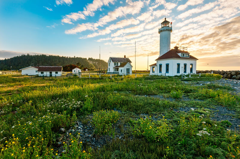The lighthouse at Fort Worden