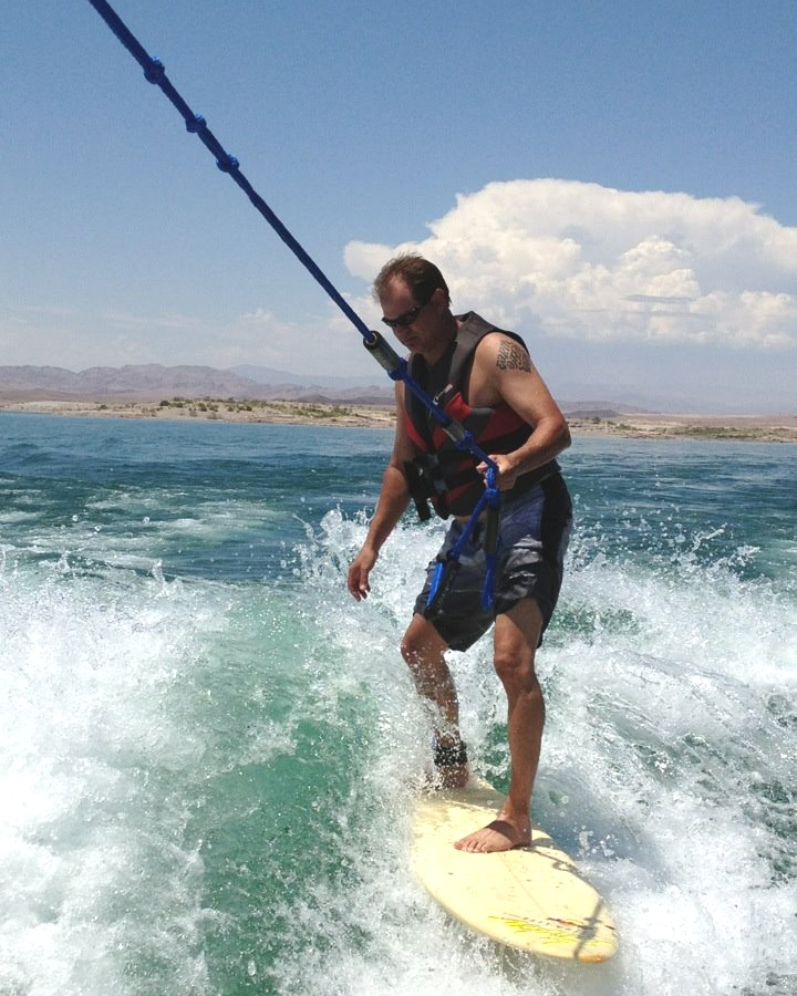 Dentist Wakeboarding Lake Mead NV