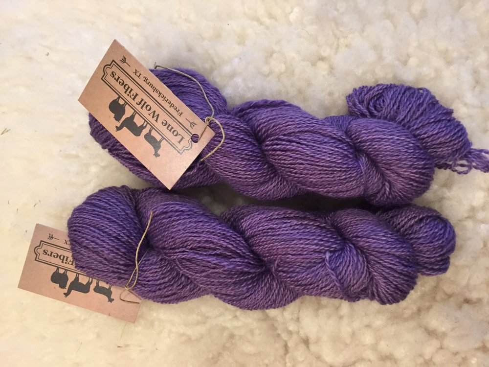 BFL/alpaca and merino- DK weight 200yds