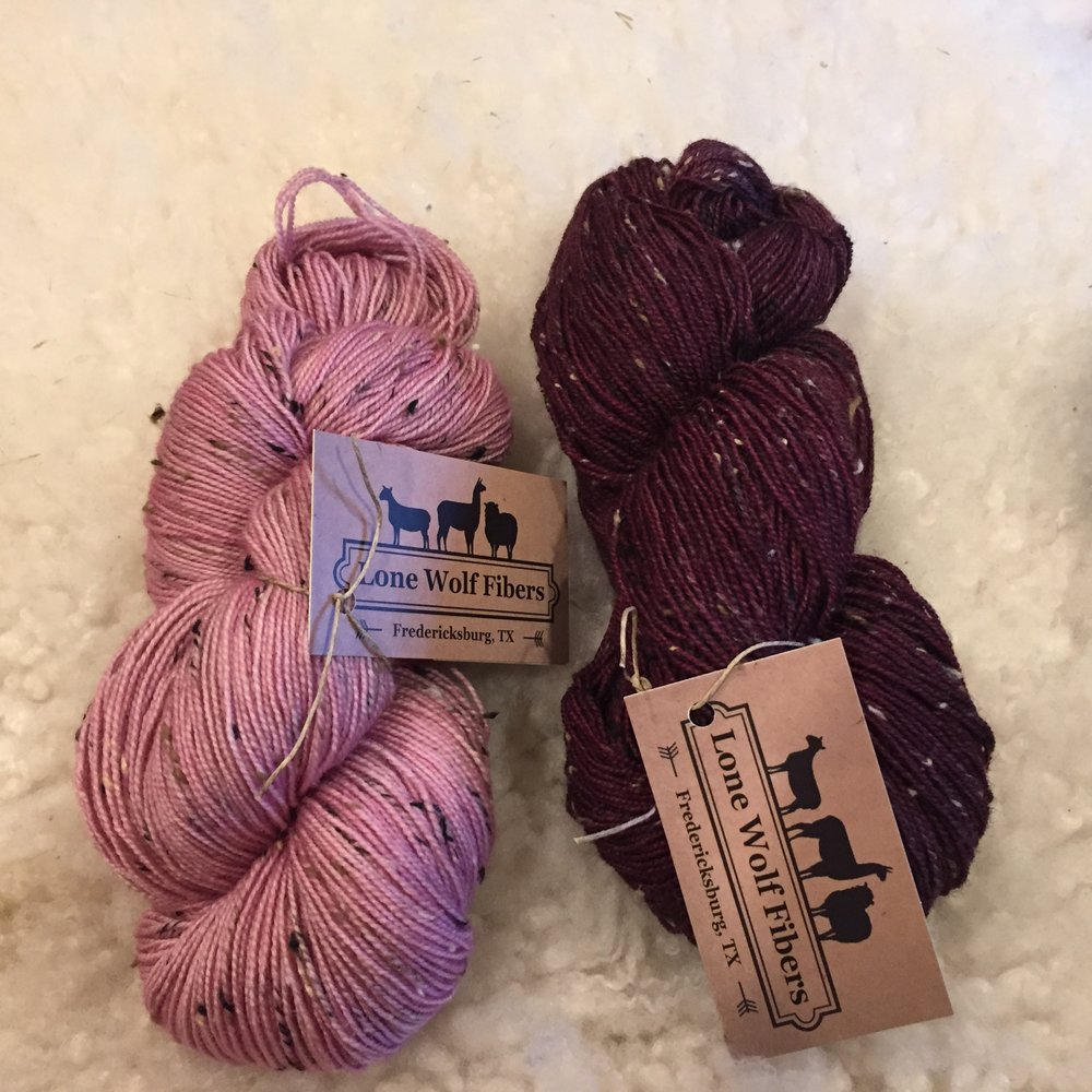 BFL/nylon sock weight with Donegal nep