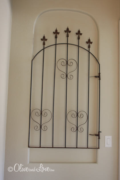 wall mounted gate vintage wall niche