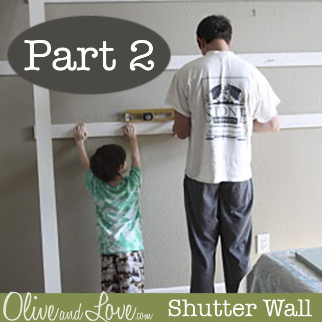 shutter wall tutorial Olive and Love