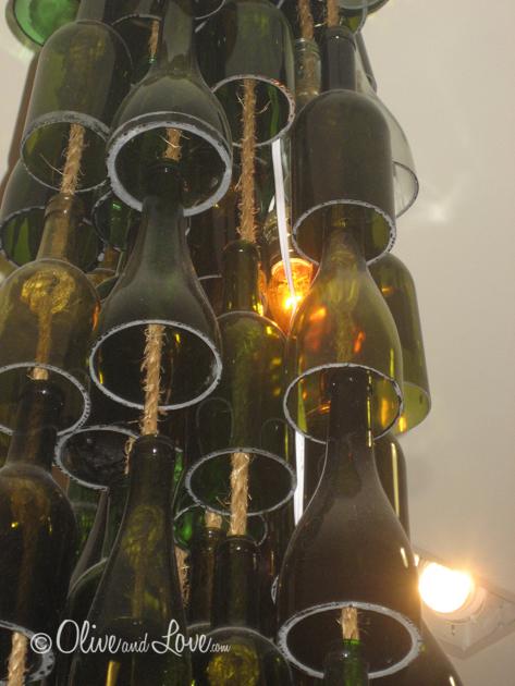 Wine bottle chandelier anthropologie