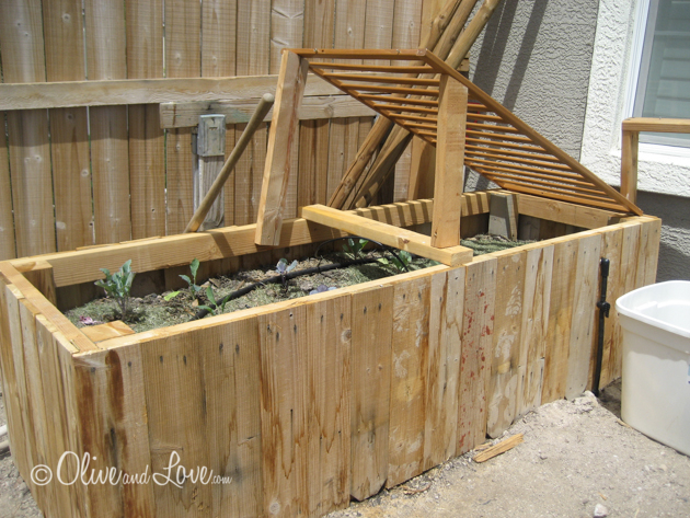 reclaimed wood raised vegetable garden