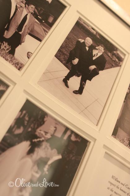 collection wedding photos display