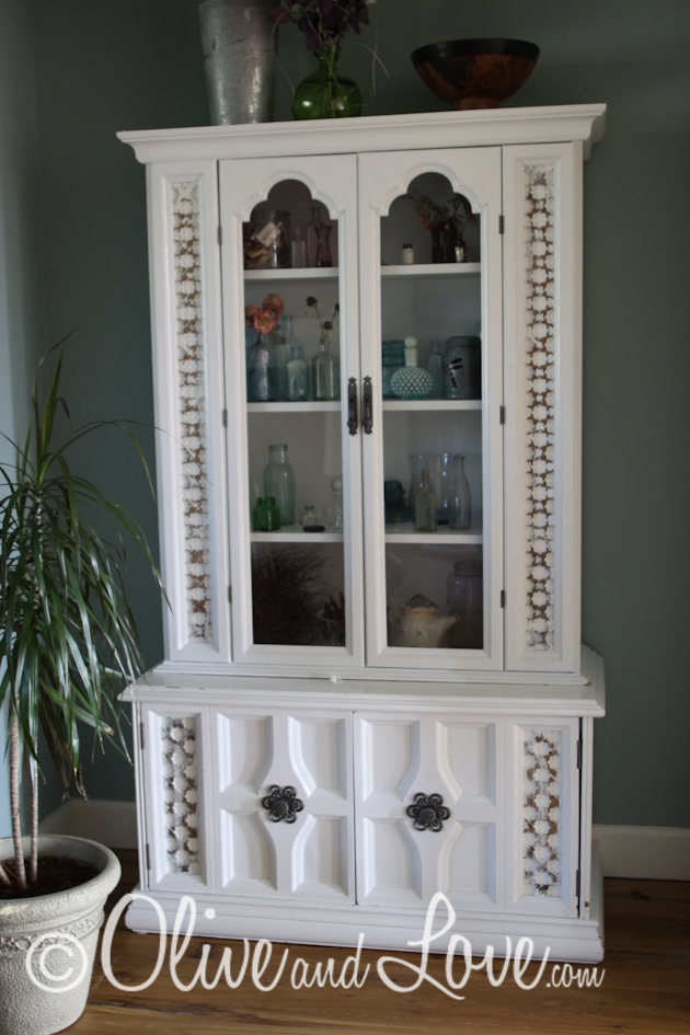 furniture renovation refurbished china hutch
