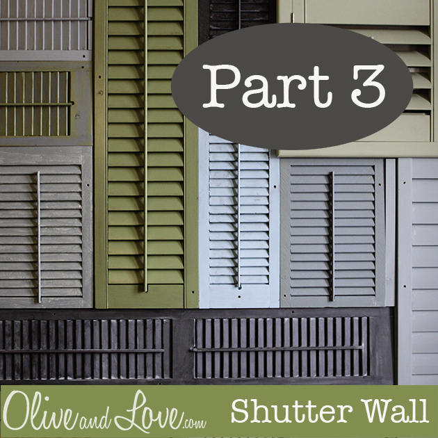 shutter tutorial wall diy olive and love