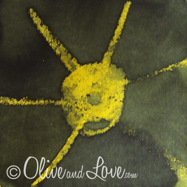 wax resist sun watercolors