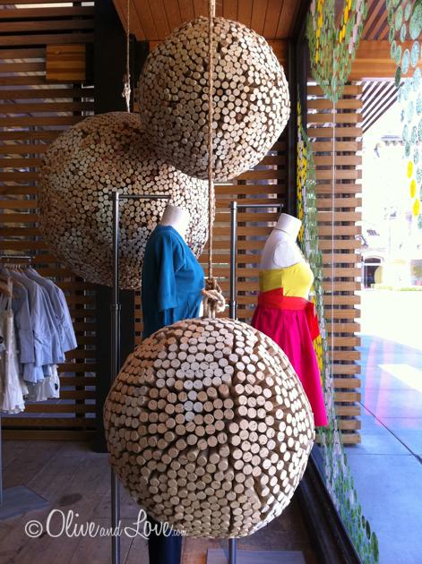 cork balls anthropologie wine display decorations