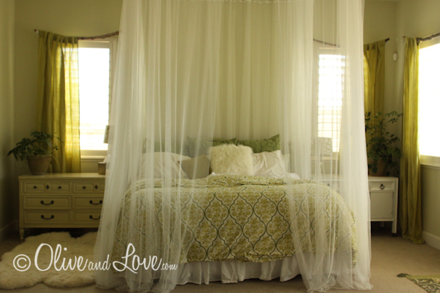 Ceiling Mounted Bed Canopy Olive Love