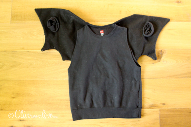 halloween costume bat tutorial diy easy sweatshirt