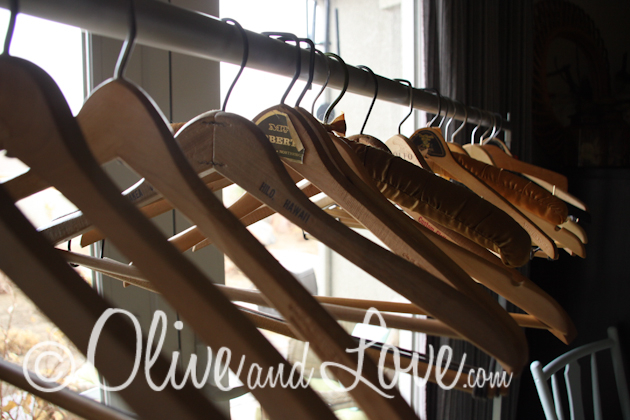 vintage hangers for guests